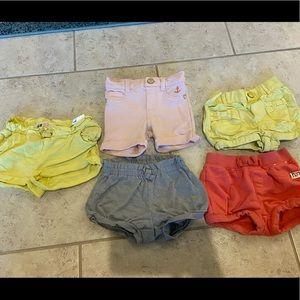 Set of 5 bubble shorts 12-18 months